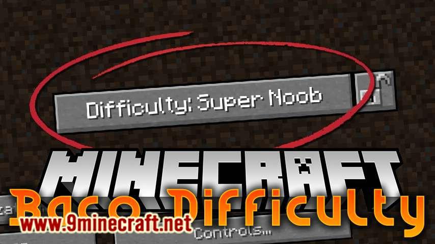 BacoDifficulty mod for minecraft logo
