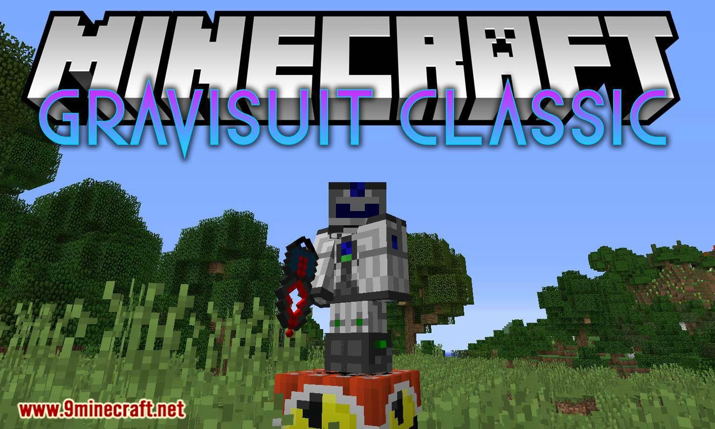 Gravisuit Classic mod for minecraft logo