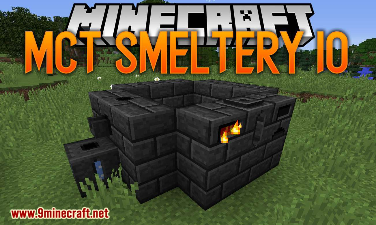 MCT Smeltery IO mod for minecraft logo