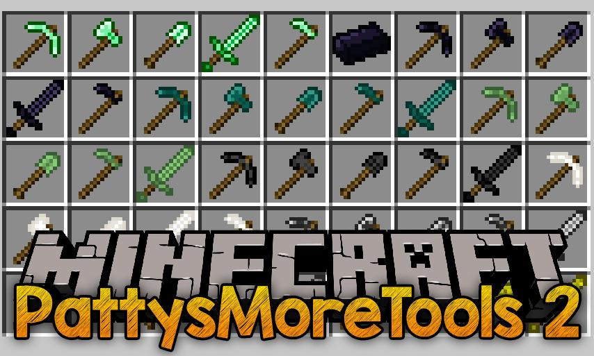 PattysMoreTools 2 mod for minecraft logo
