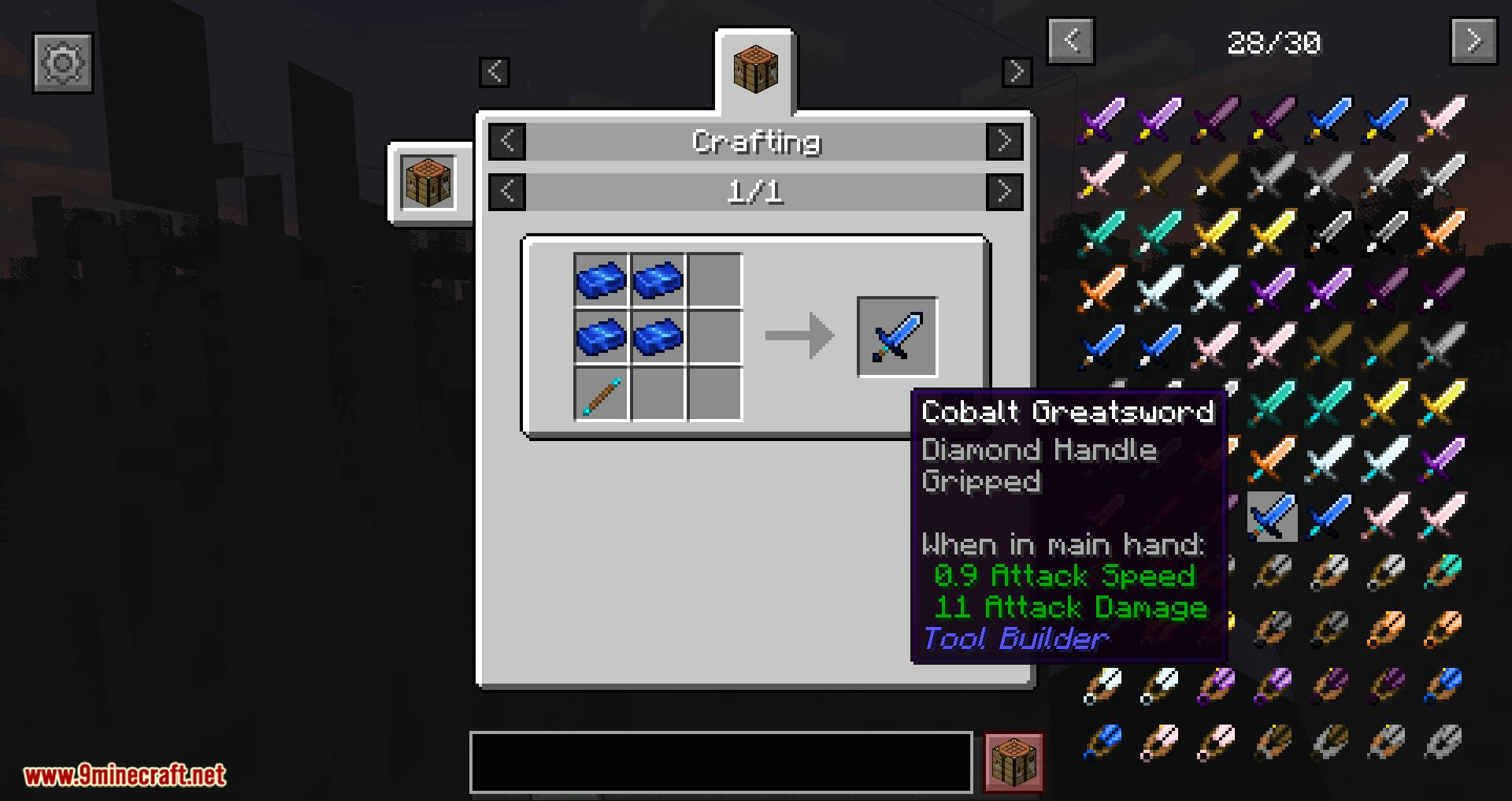 Tool Builder mod for minecraft 01